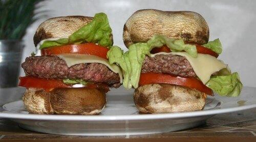 hamburger champignon