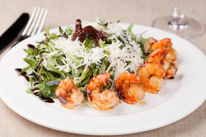 Salade et ses crevettes gambas au vinaigre balsamique pour une vie saine coach minceur - Vinaigre balsamique calorie ...