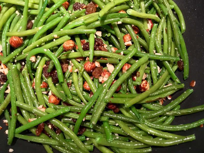 haricots verts raisins secs et noisettes pour une vie saine coach minceur nutrition. Black Bedroom Furniture Sets. Home Design Ideas