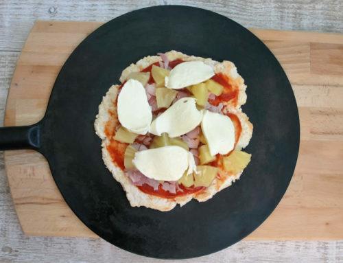 Pizza hawaïenne sans féculents