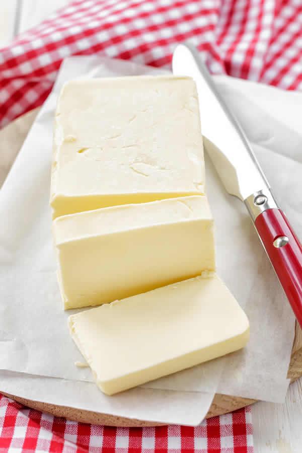 Beurre à teneur en graisse