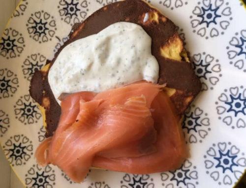 Blinis saumon fumé et salade